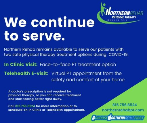 Northern Rehab We Continue To Serve - 2 Treatment Options V2